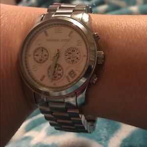 Michael Kors unisex medium steel watch.